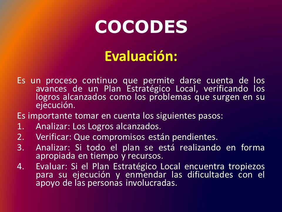 COCODES Evaluación: