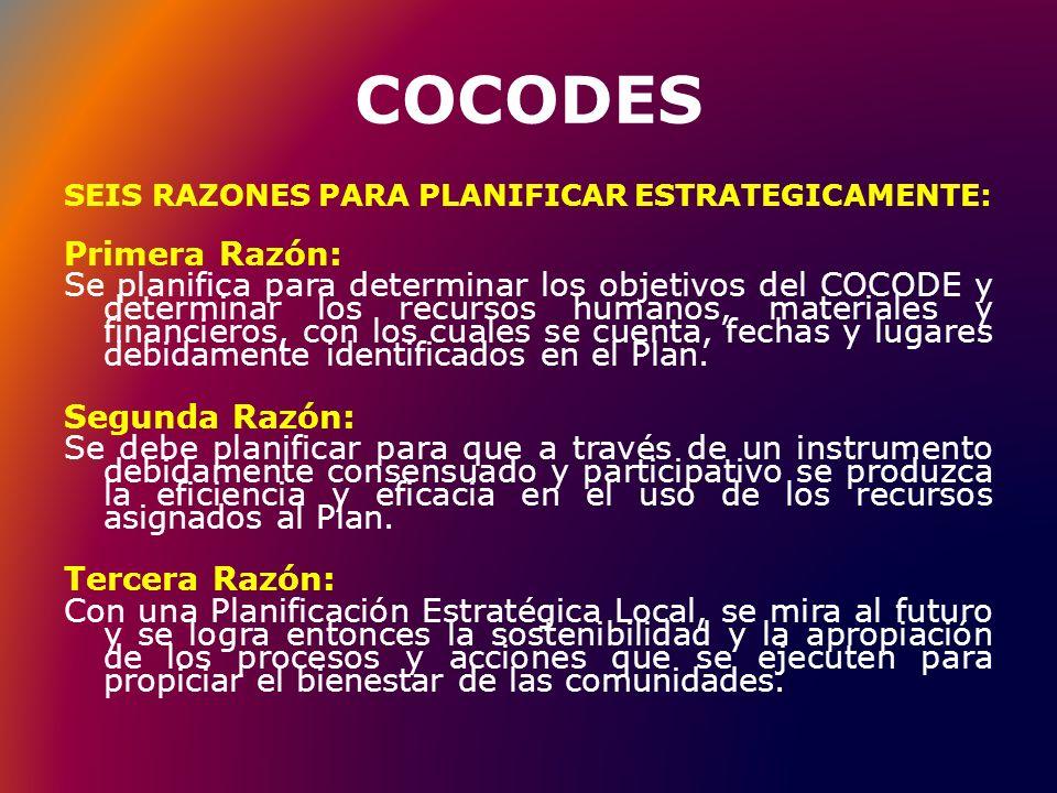 COCODES Primera Razón: