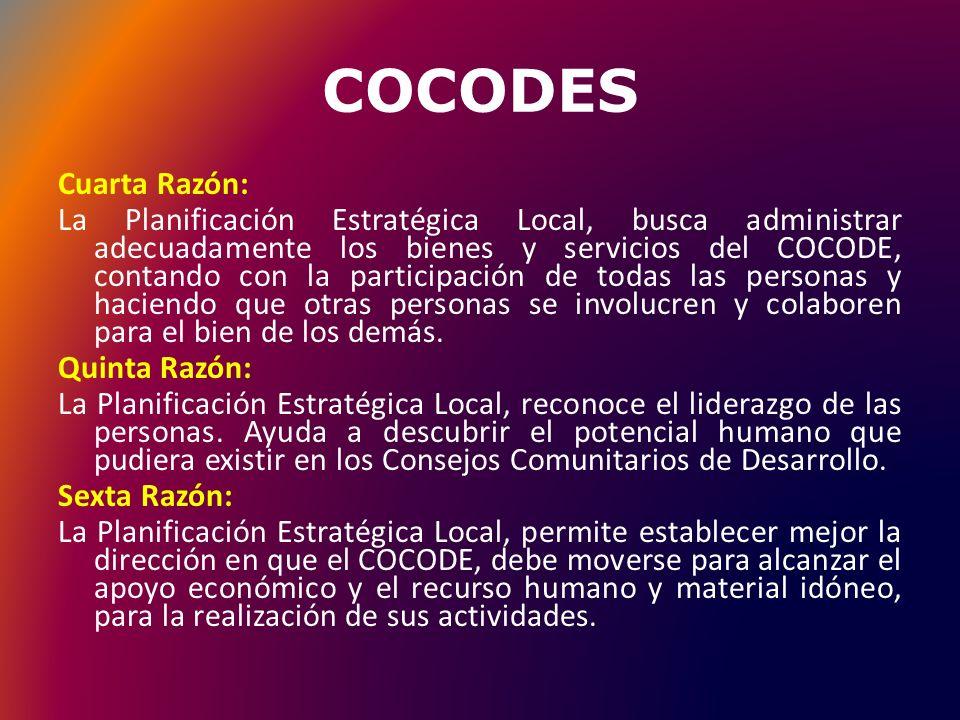 COCODES Cuarta Razón: