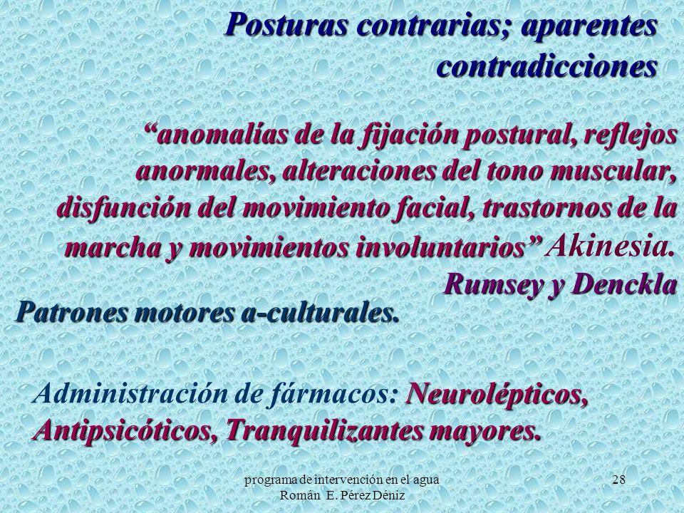 Posturas contrarias; aparentes contradicciones