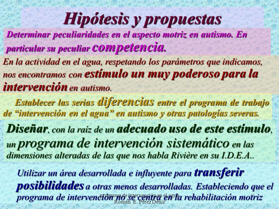 Hipótesis y propuestas