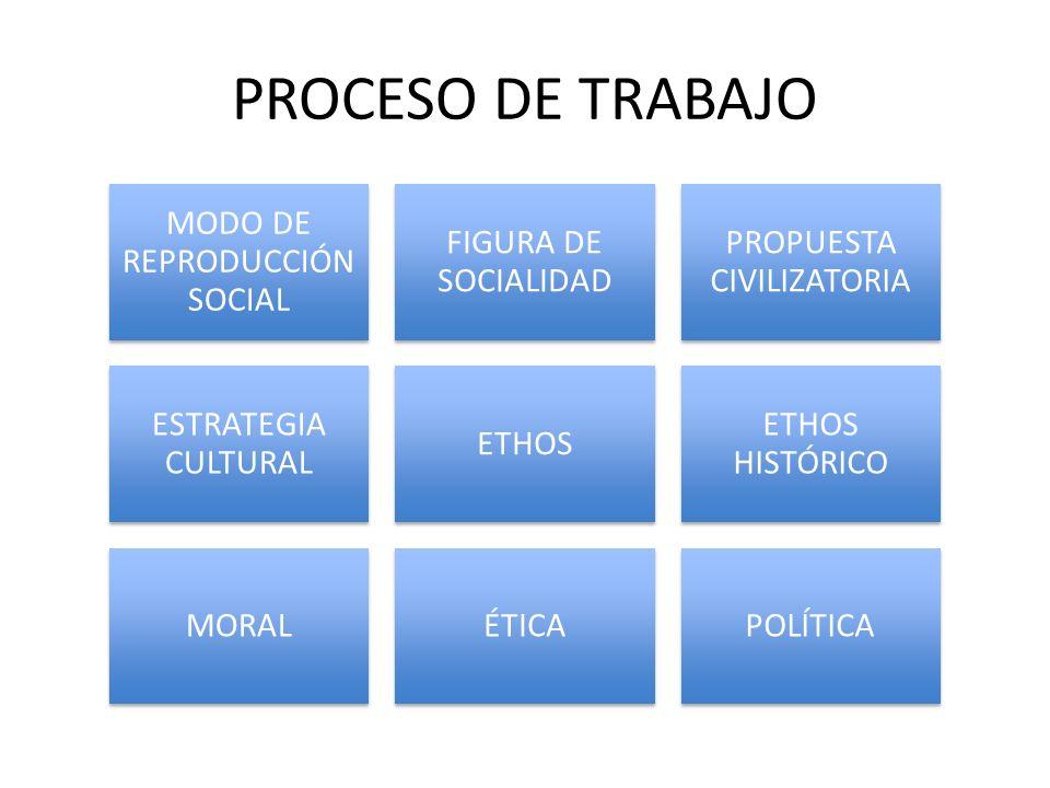 PROCESO DE TRABAJO MODO DE REPRODUCCIÓN SOCIAL FIGURA DE SOCIALIDAD