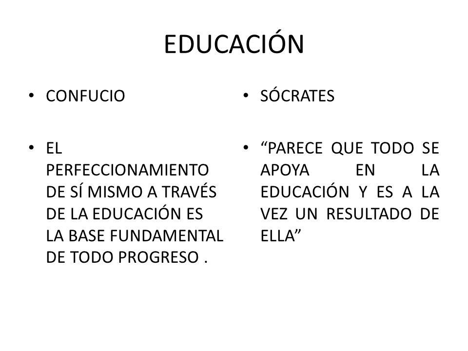 EDUCACIÓN CONFUCIO. EL PERFECCIONAMIENTO DE SÍ MISMO A TRAVÉS DE LA EDUCACIÓN ES LA BASE FUNDAMENTAL DE TODO PROGRESO .