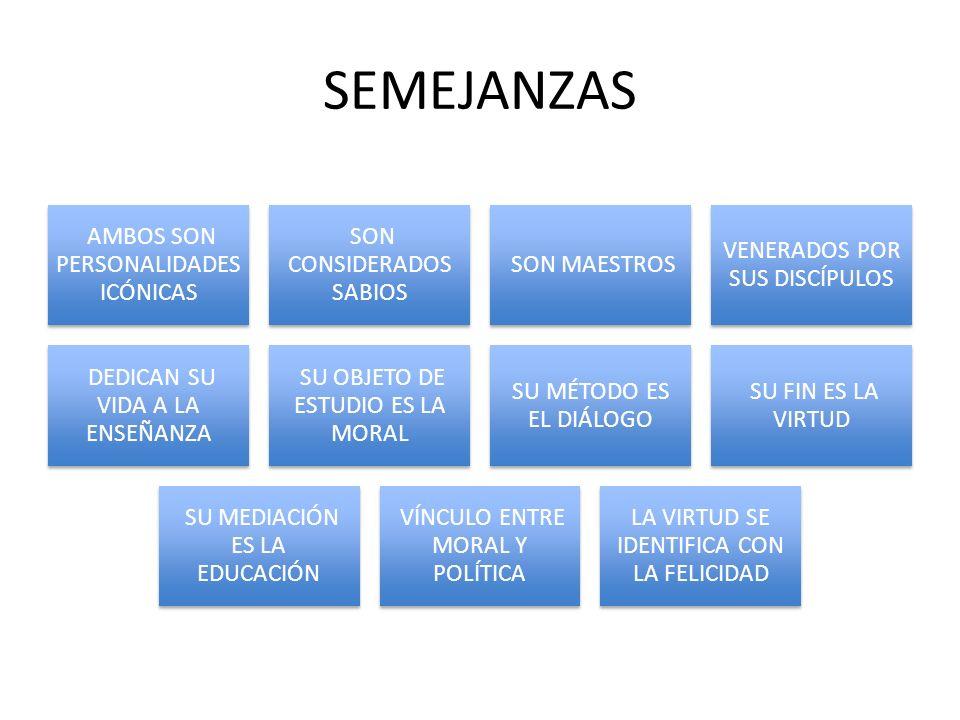 SEMEJANZAS AMBOS SON PERSONALIDADES ICÓNICAS SON CONSIDERADOS SABIOS