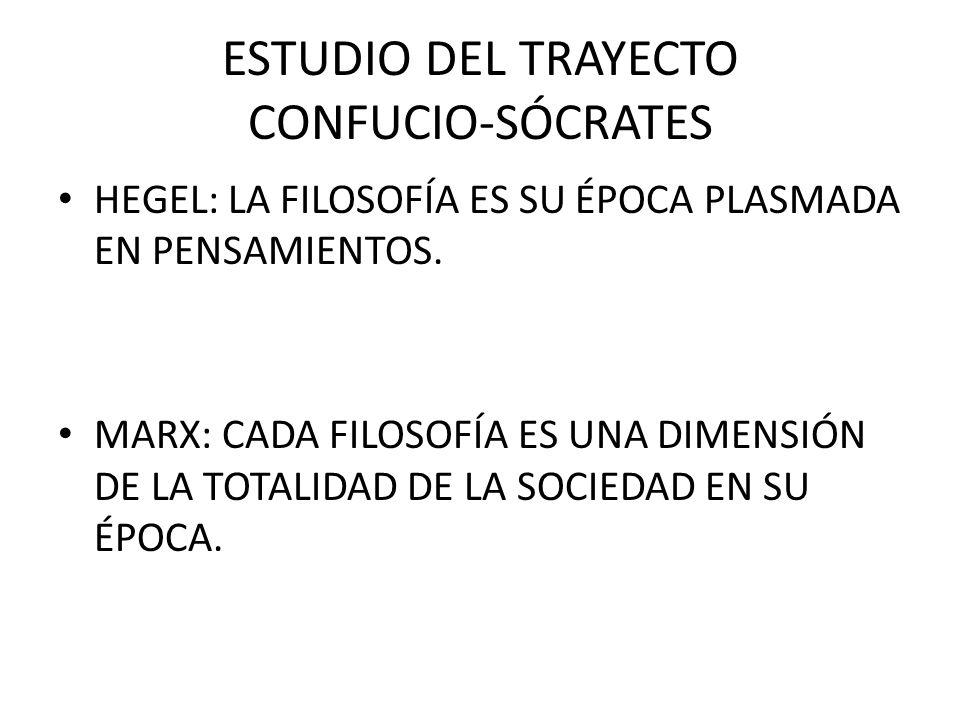 ESTUDIO DEL TRAYECTO CONFUCIO-SÓCRATES