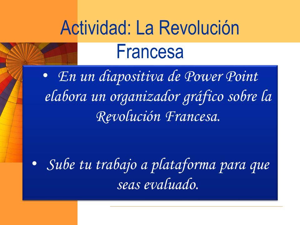 Actividad: La Revolución Francesa
