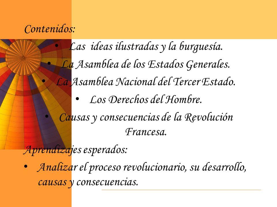 Las ideas ilustradas y la burguesía.
