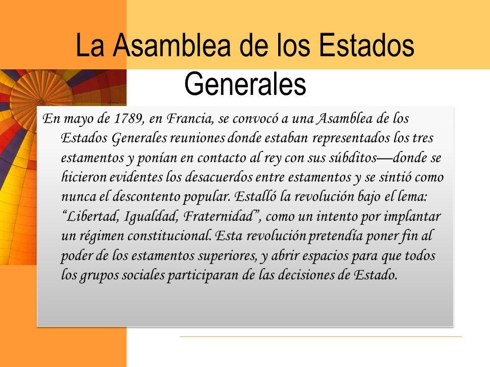 La Asamblea de los Estados Generales