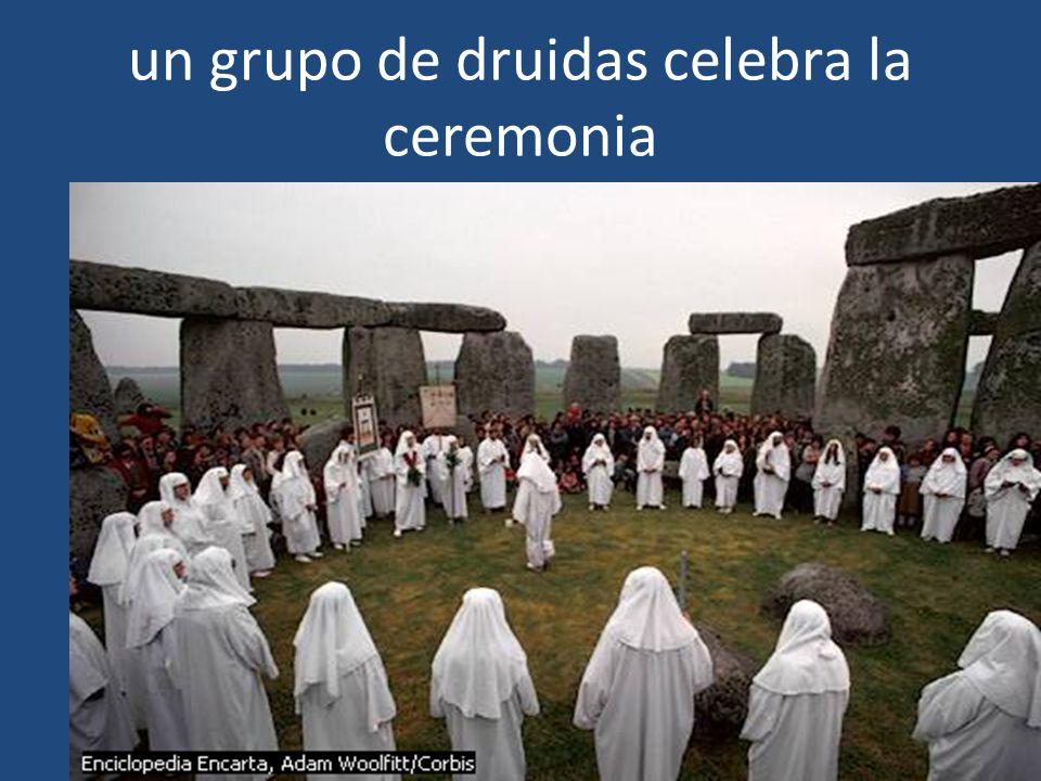 un grupo de druidas celebra la ceremonia