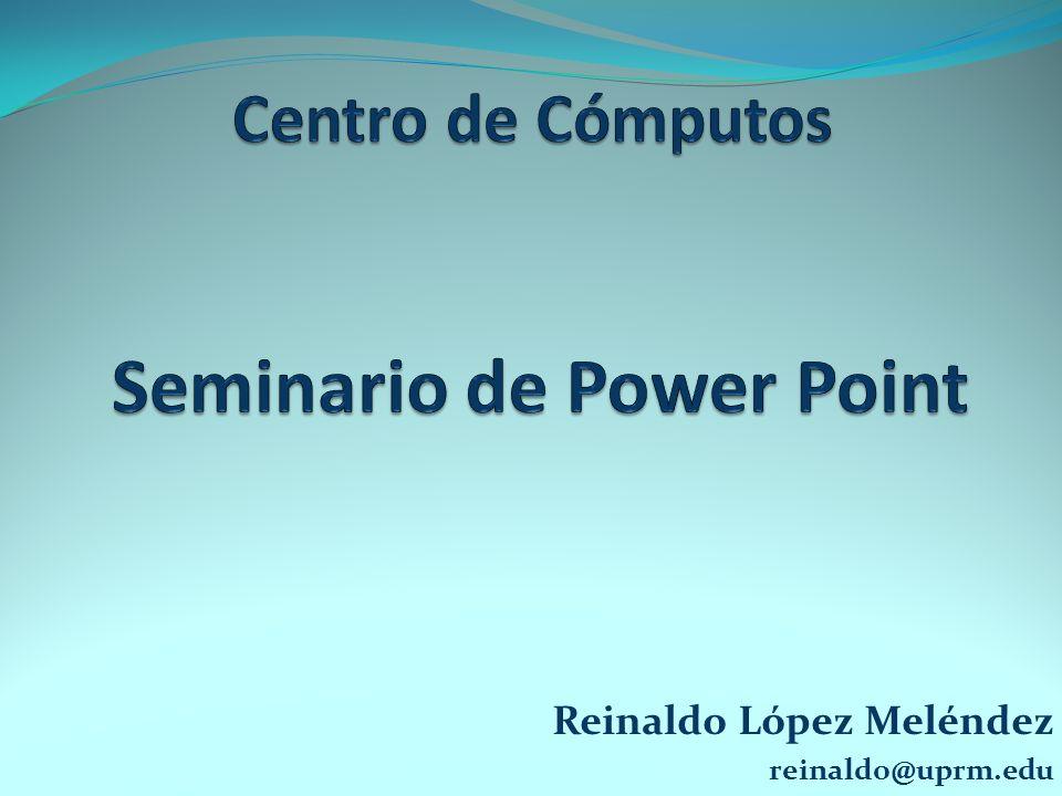 Reinaldo López Meléndez reinaldo@uprm.edu