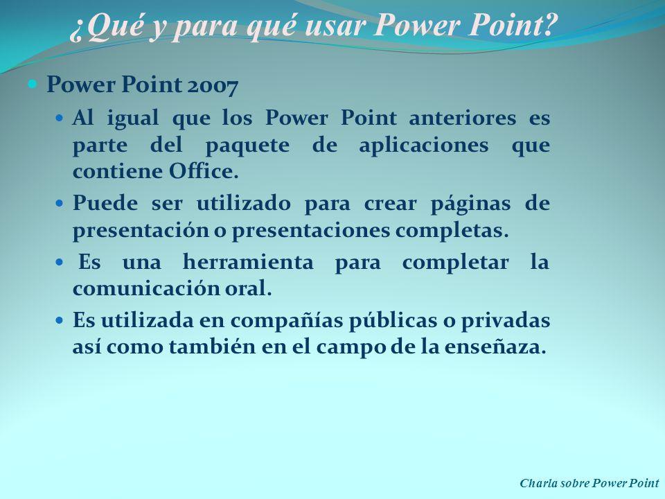 ¿Qué y para qué usar Power Point
