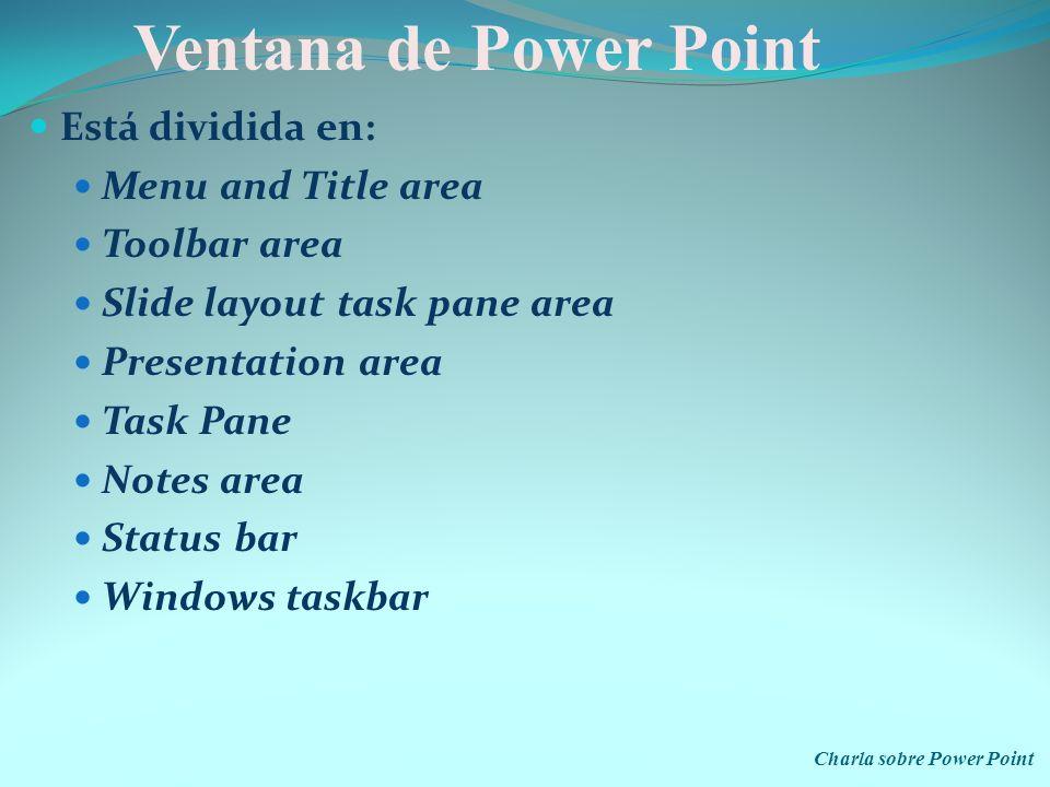 Charla sobre Power Point