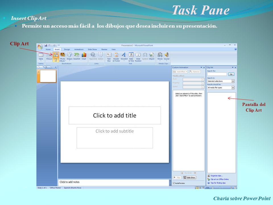 Task Pane Insert Clip Art