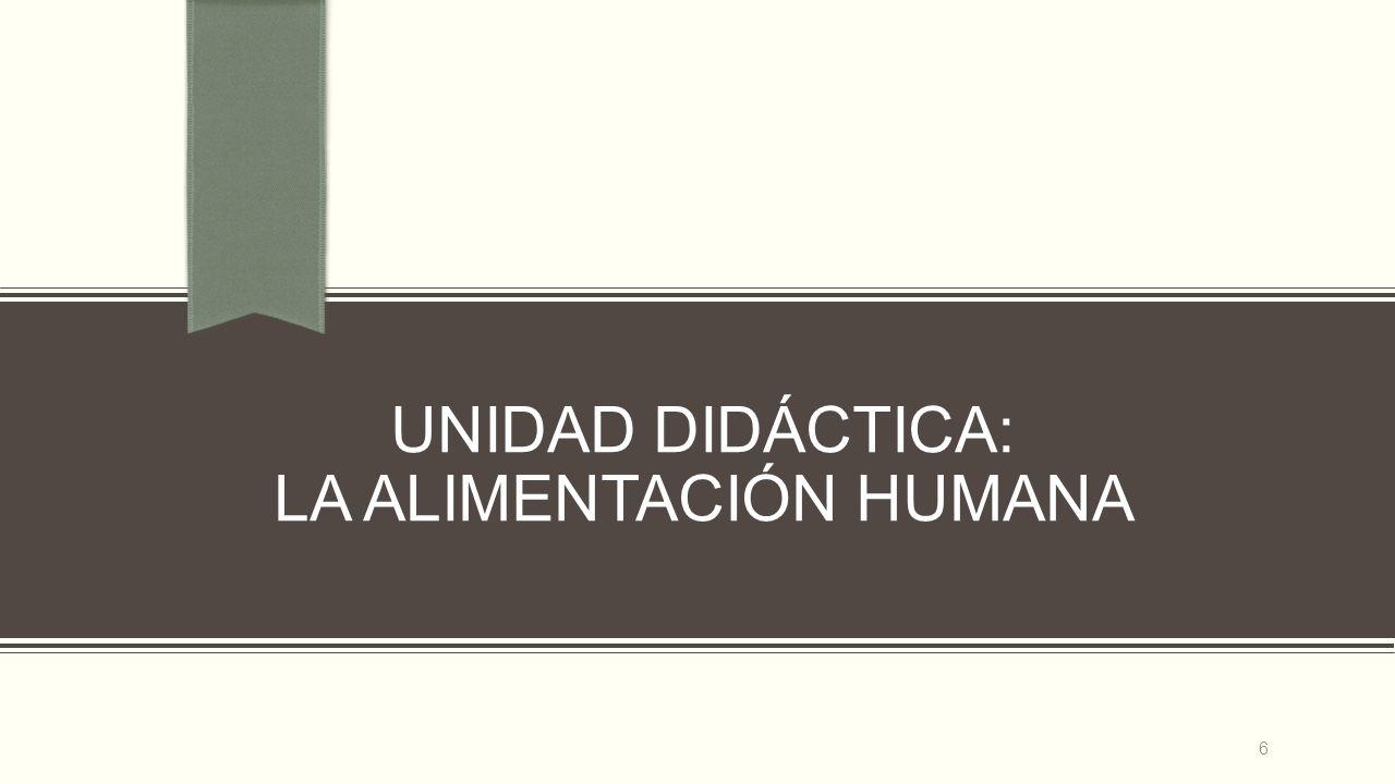 UNIDAD DIDÁCTICA: LA ALIMENTACIÓN HUMANA