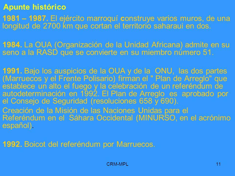 1992. Boicot del referéndum por Marruecos.