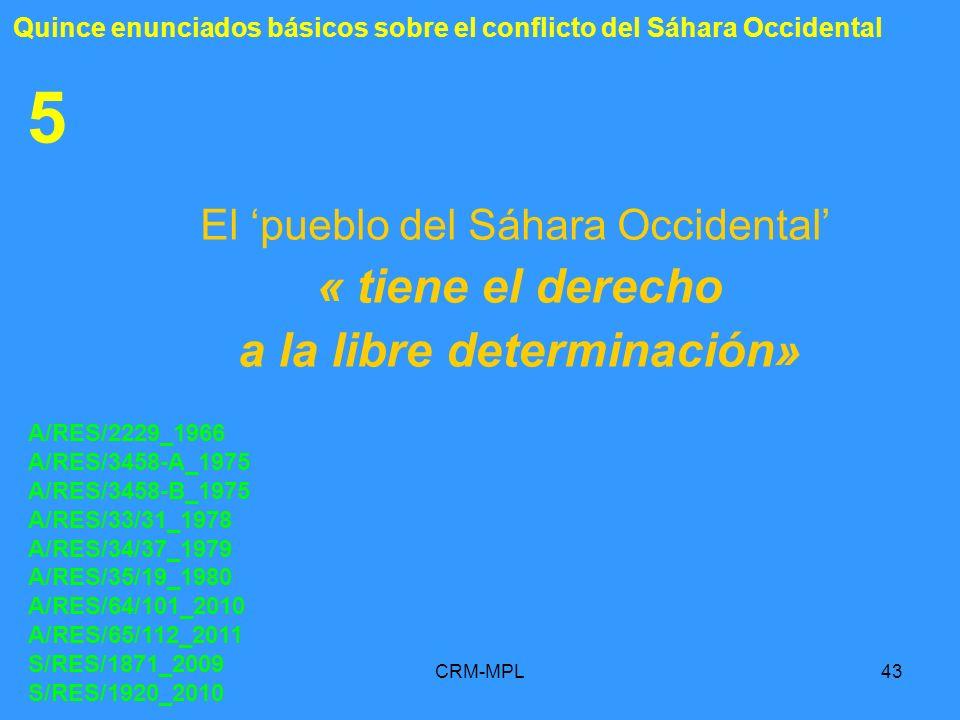 a la libre determinación»