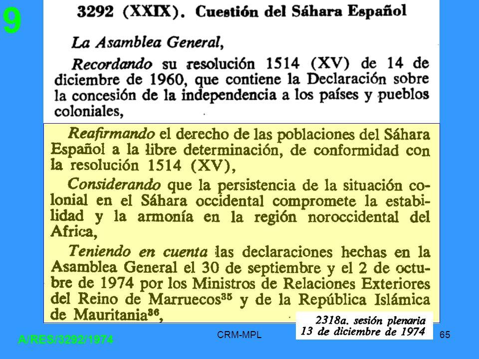 9 A/RES/3292/1974 CRM-MPL
