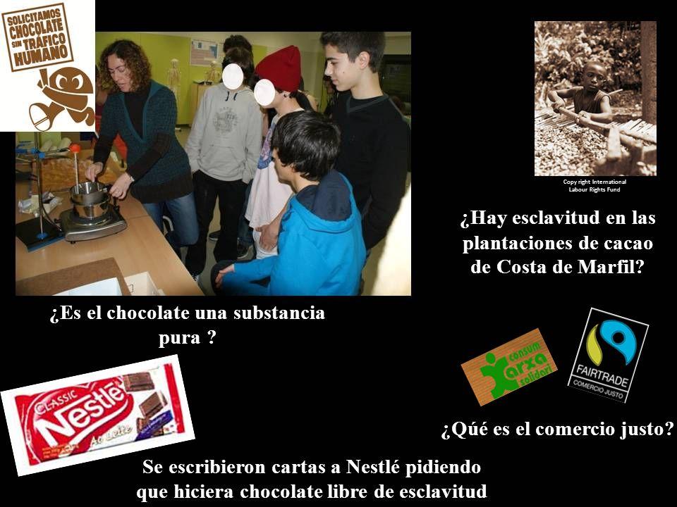 ¿Es el chocolate una substancia pura ¿Qúé es el comercio justo