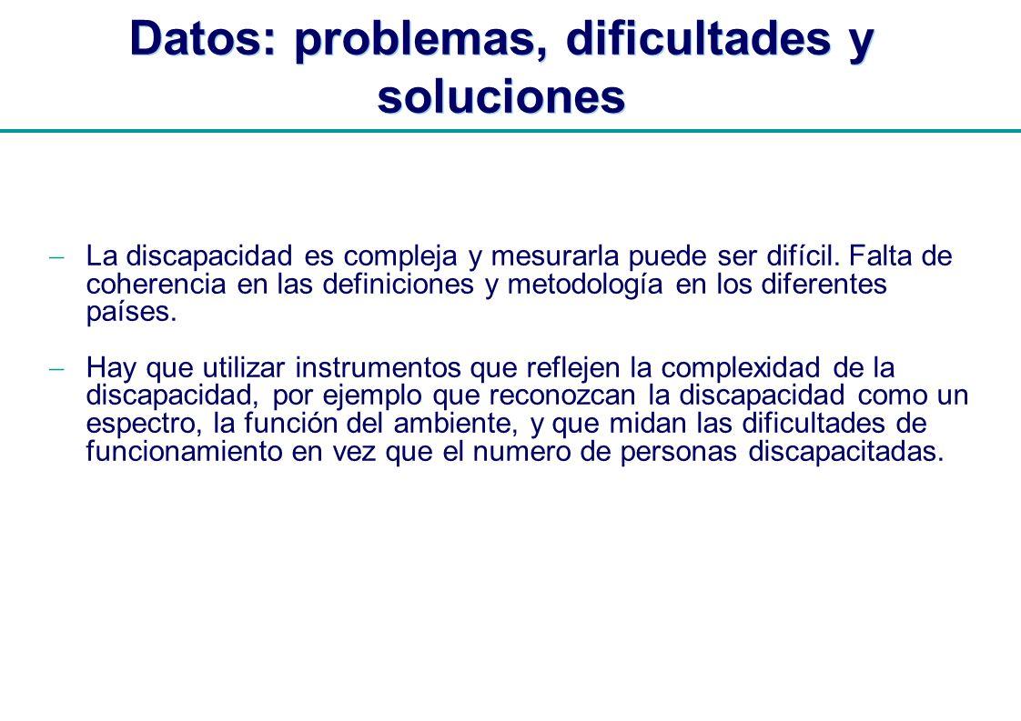 Datos: problemas, dificultades y soluciones