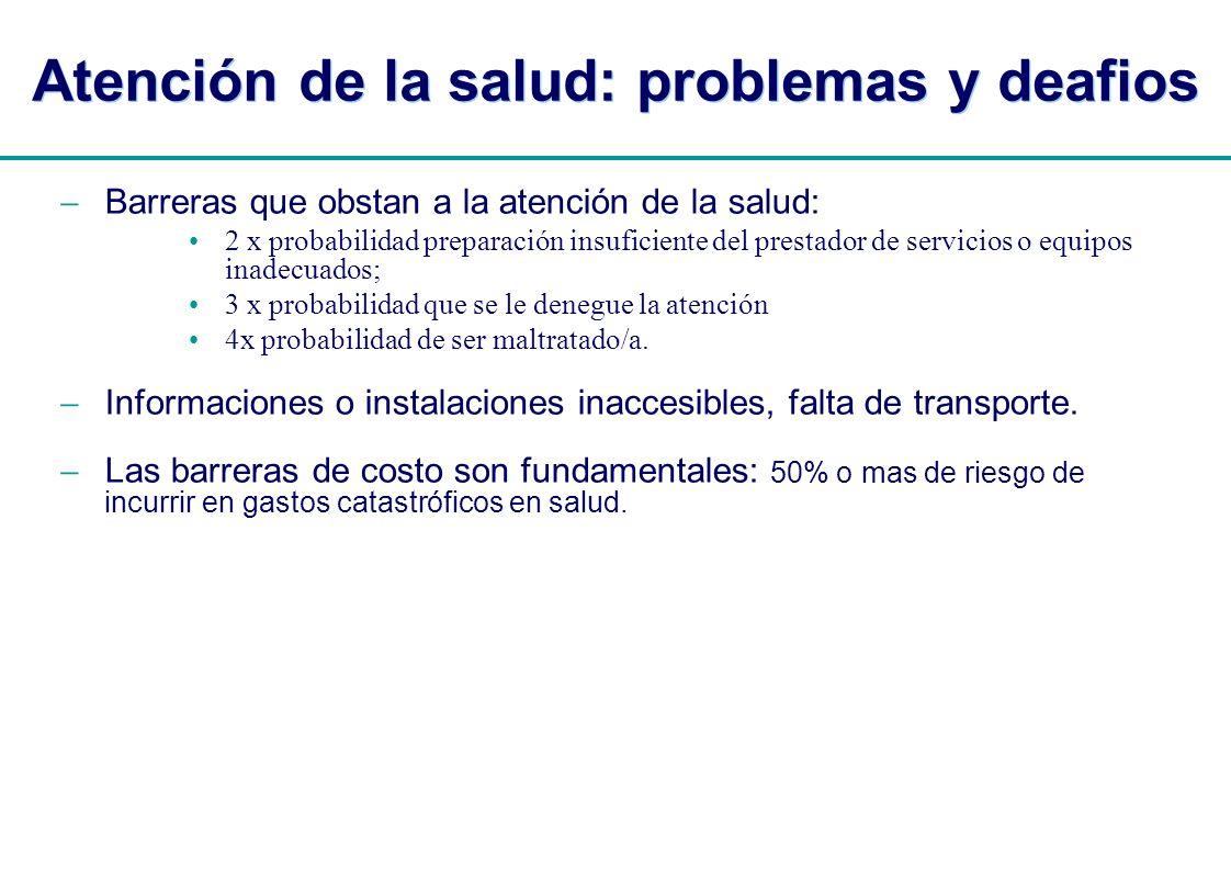 Atención de la salud: problemas y deafios