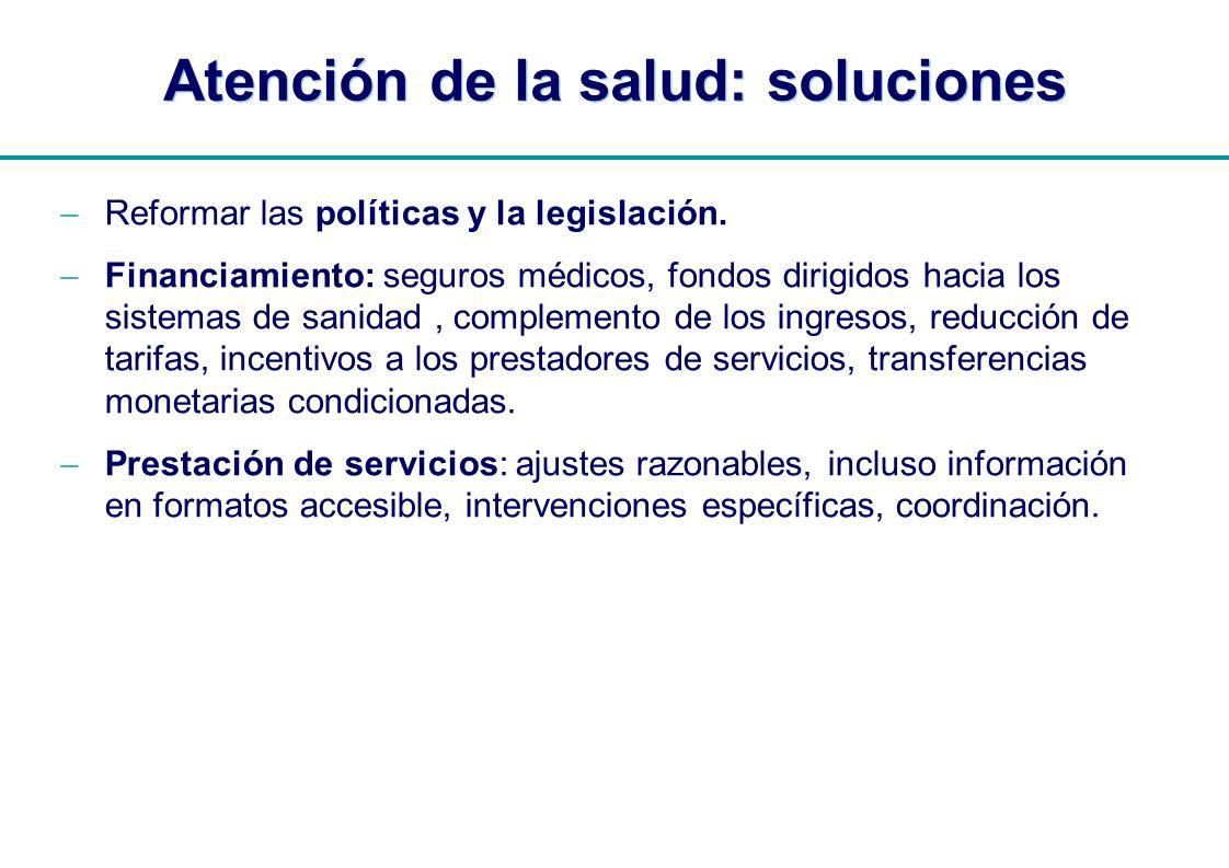 Atención de la salud: soluciones
