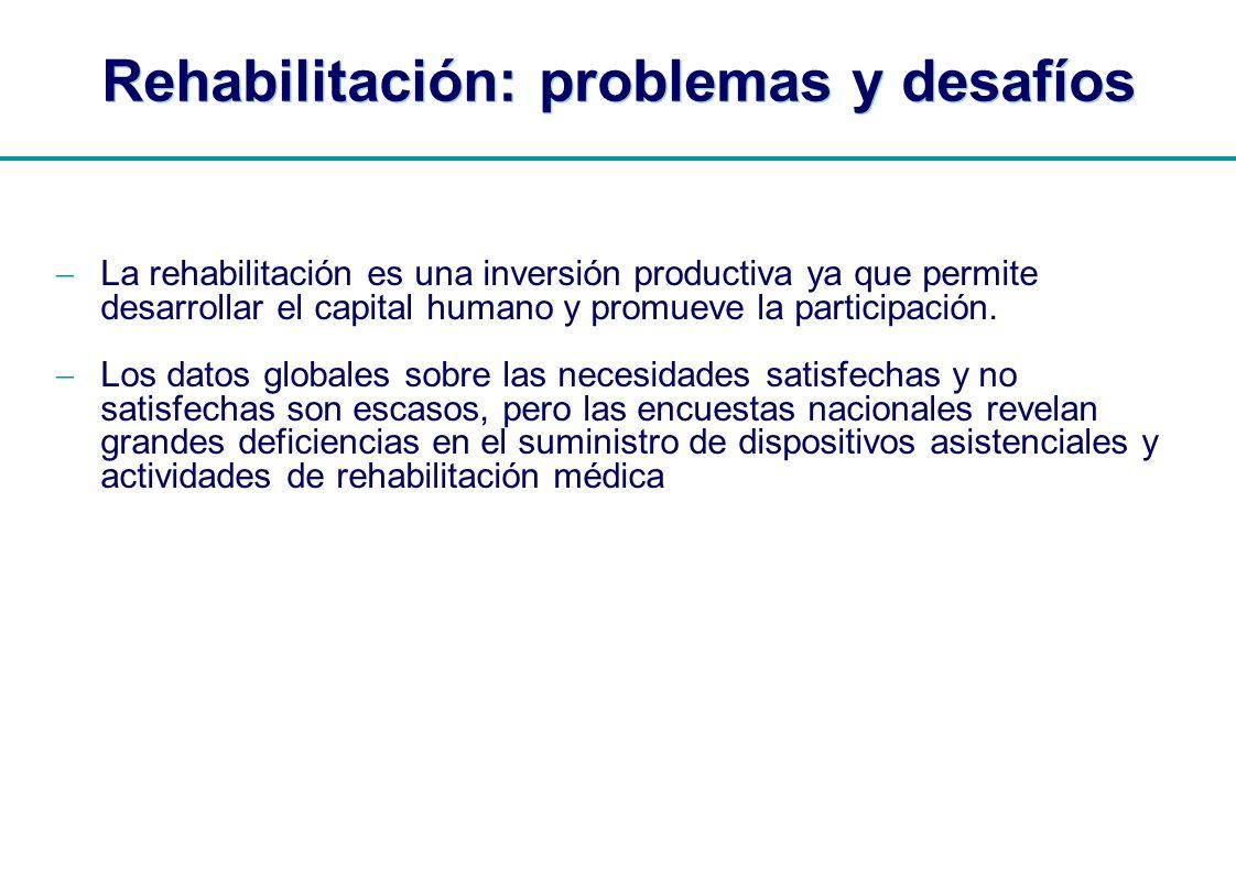 Rehabilitación: problemas y desafíos