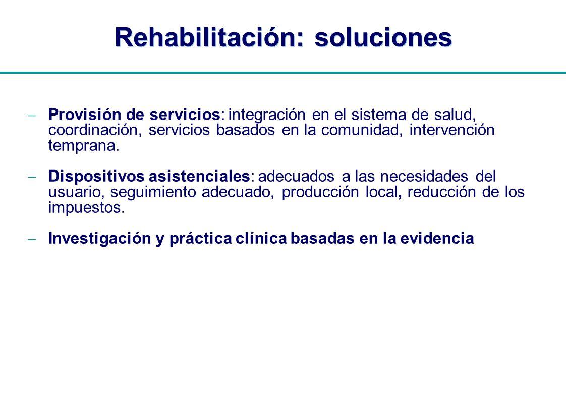 Rehabilitación: soluciones
