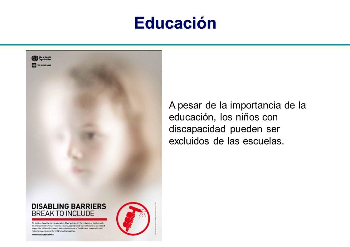 Educación A pesar de la importancia de la educación, los niños con discapacidad pueden ser.