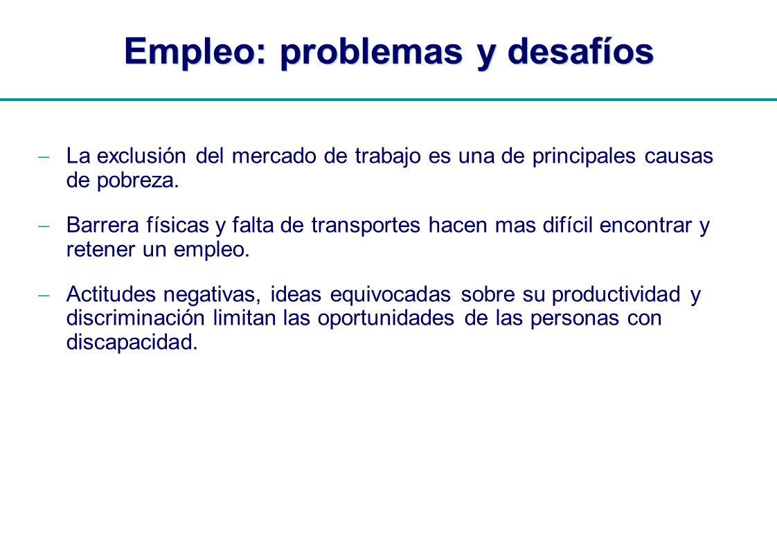 Empleo: problemas y desafíos