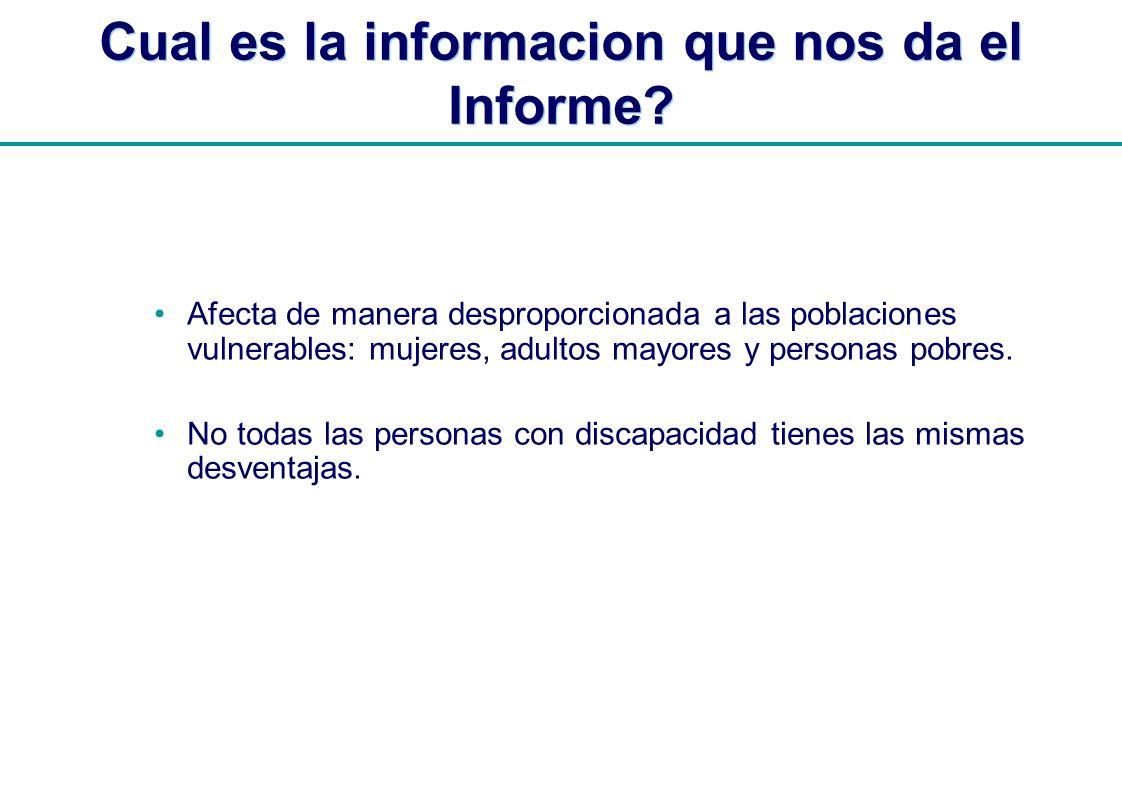 Cual es la informacion que nos da el Informe