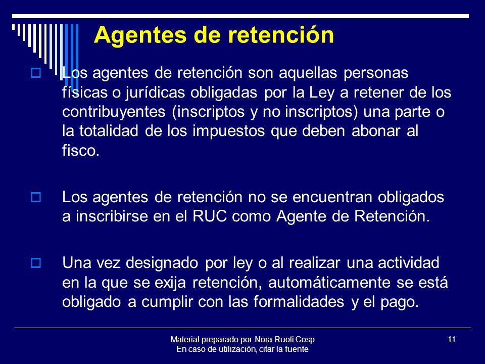 Agentes de retención