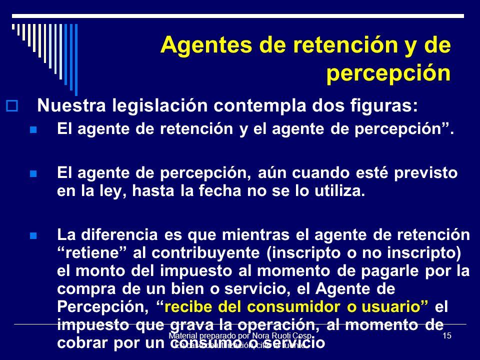 Agentes de retención y de percepción
