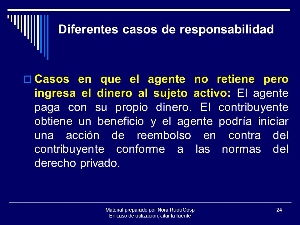 Diferentes casos de responsabilidad