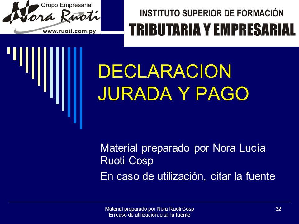 DECLARACION JURADA Y PAGO