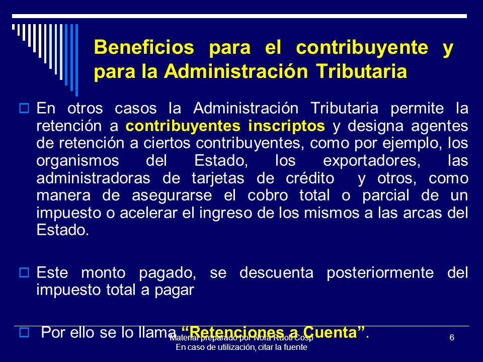 Beneficios para el contribuyente y para la Administración Tributaria