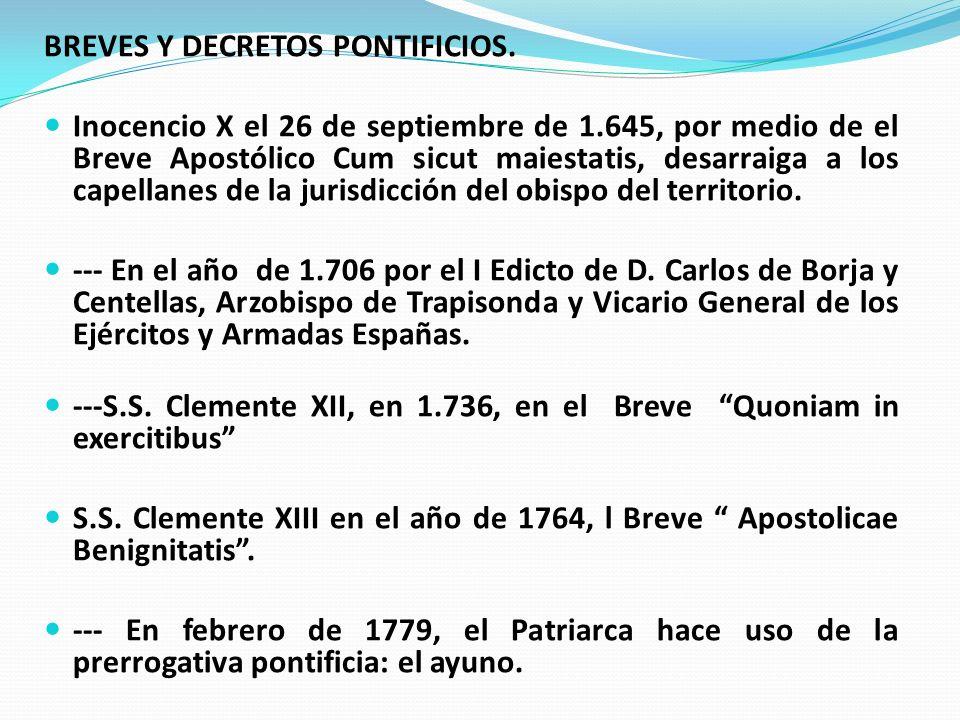 BREVES Y DECRETOS PONTIFICIOS.