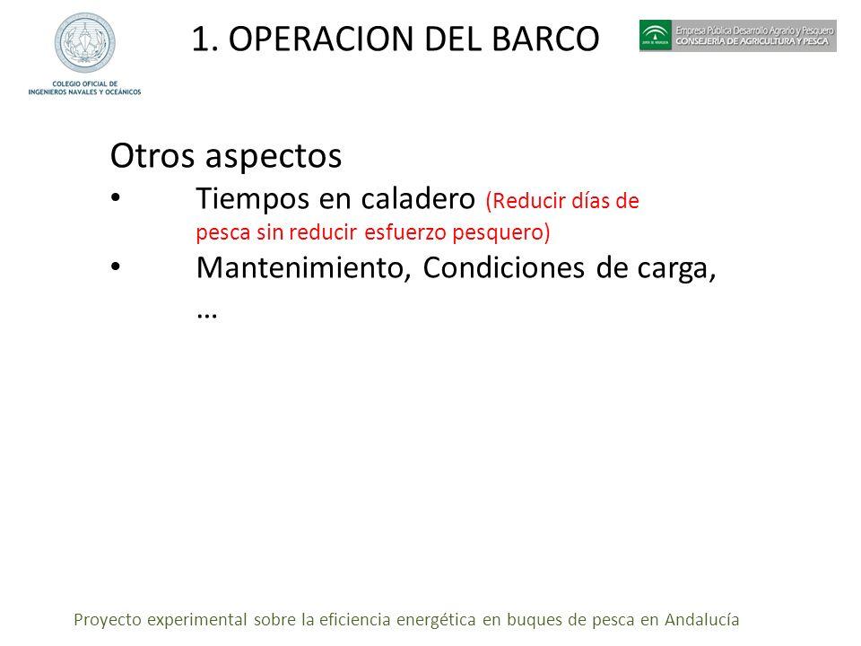 1. OPERACION DEL BARCO Otros aspectos