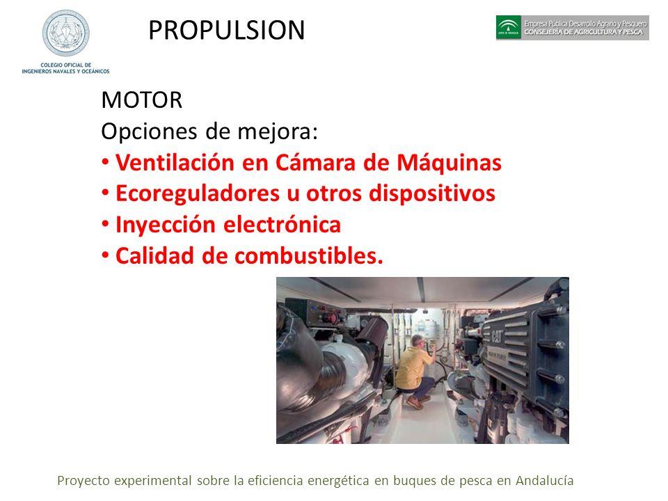 PROPULSION MOTOR Opciones de mejora: Ventilación en Cámara de Máquinas