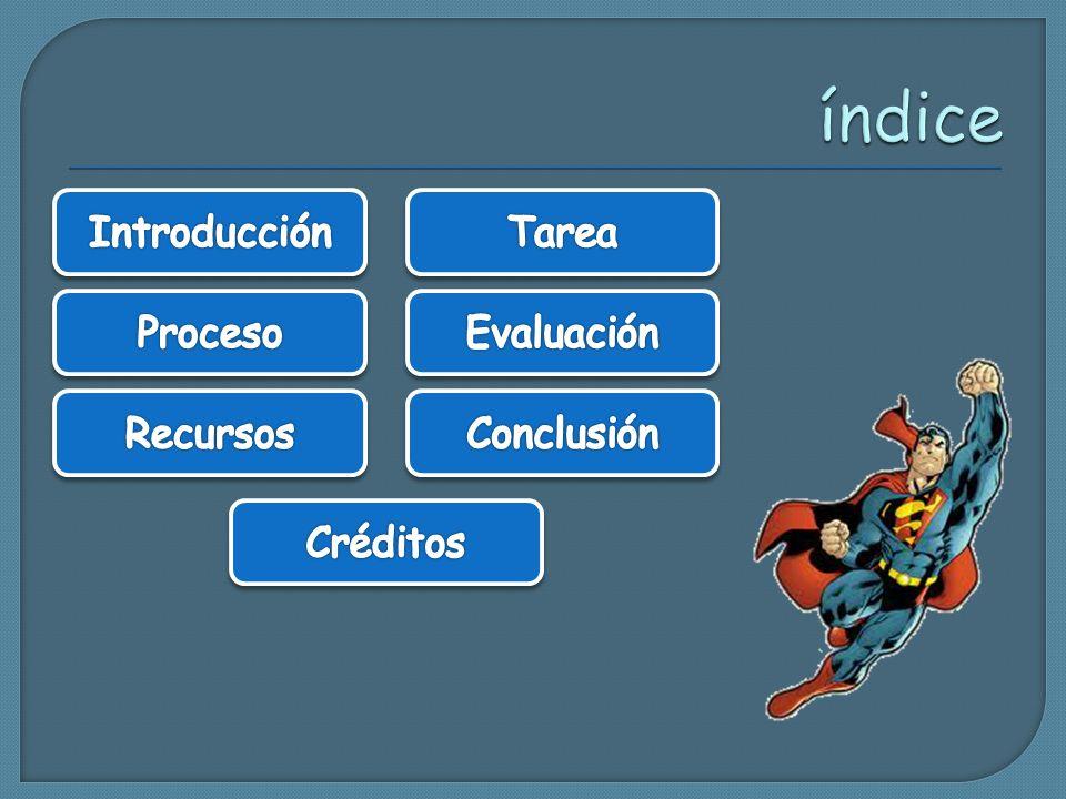 índice Introducción Tarea Proceso Evaluación Recursos Conclusión