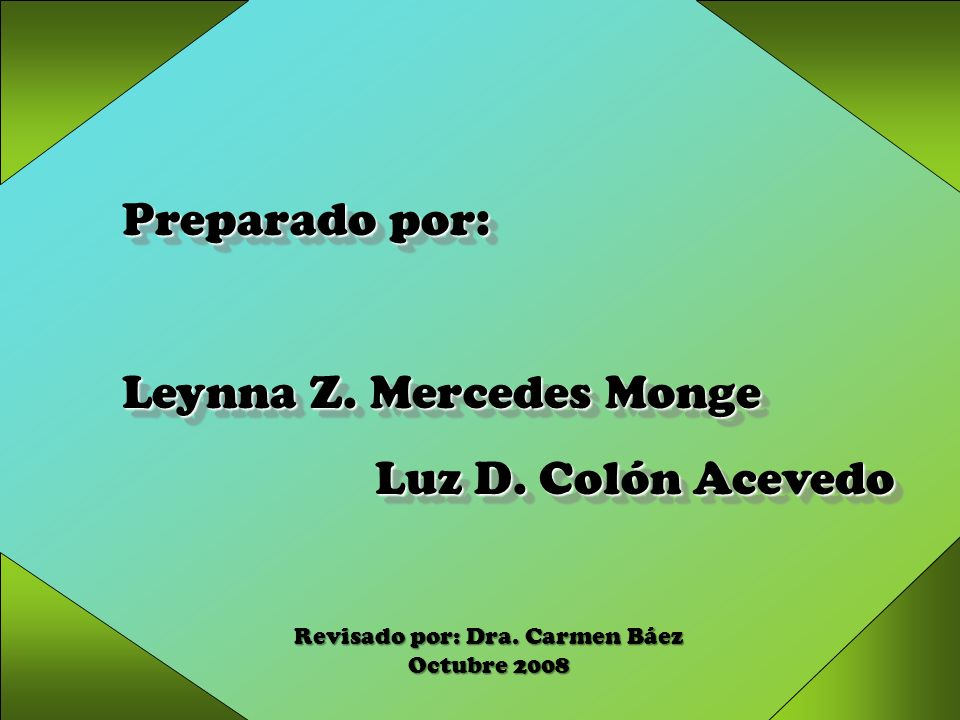 Revisado por: Dra. Carmen Báez