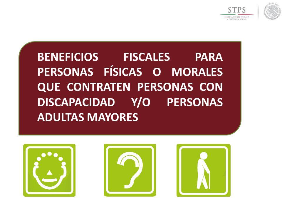 Beneficios fiscales para personas f sicas o morales que contraten personas con discapacidad y o - Compartir piso con personas mayores ...