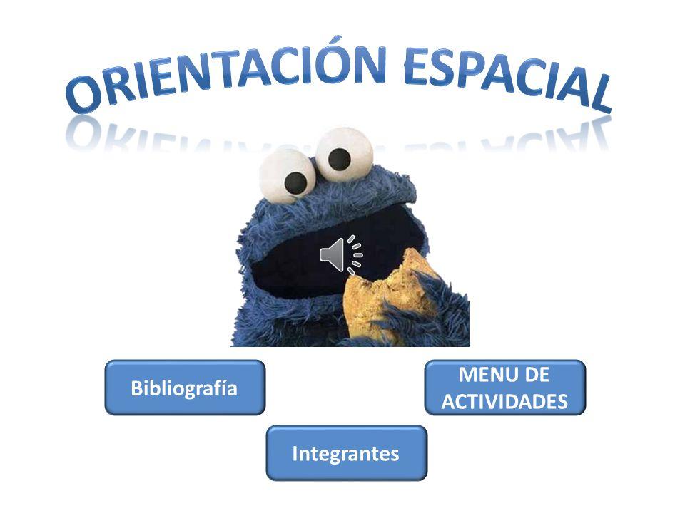 ORIENTACIÓN ESPACIAL Bibliografía MENU DE ACTIVIDADES Integrantes