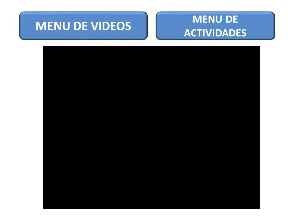 MENU DE VIDEOS MENU DE ACTIVIDADES