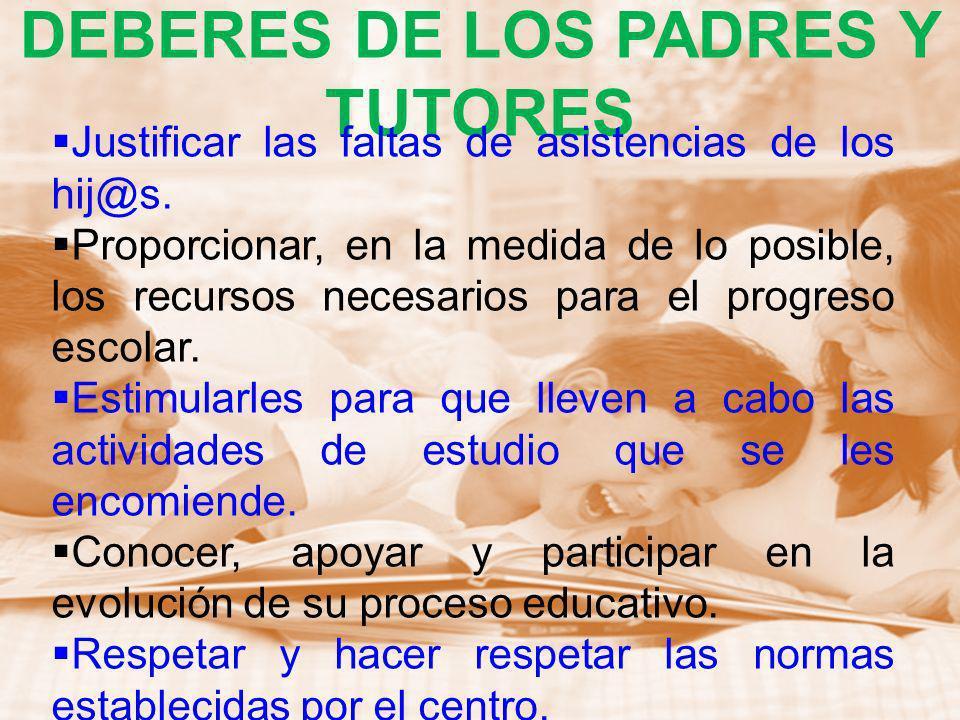 DEBERES DE LOS PADRES Y TUTORES