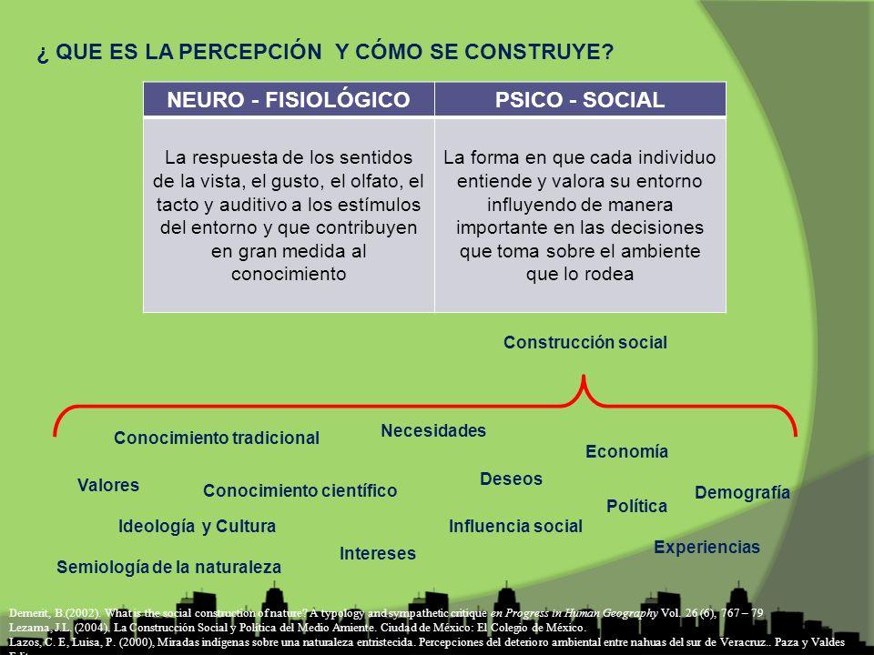 NEURO - FISIOLÓGICO PSICO - SOCIAL