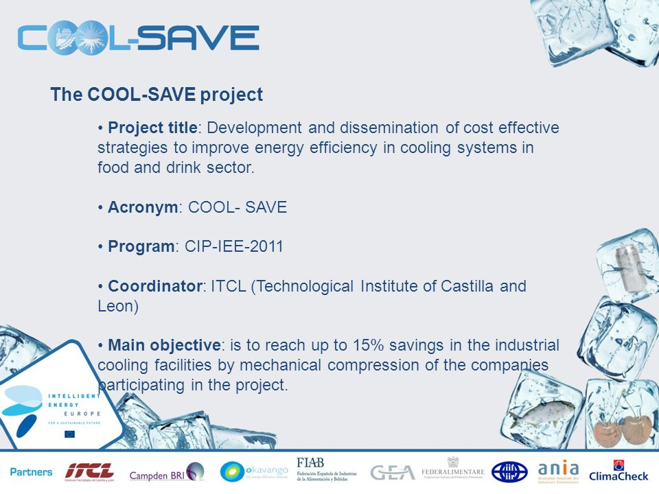 The COOL-SAVE project