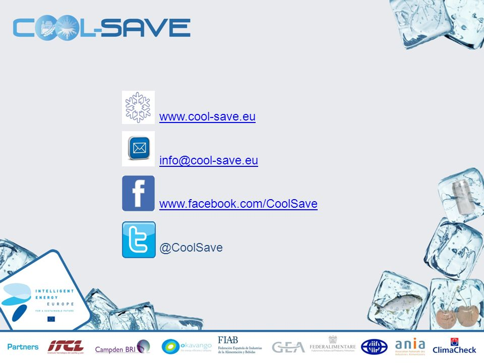 www.cool-save.eu info@cool-save.eu www.facebook.com/CoolSave @CoolSave
