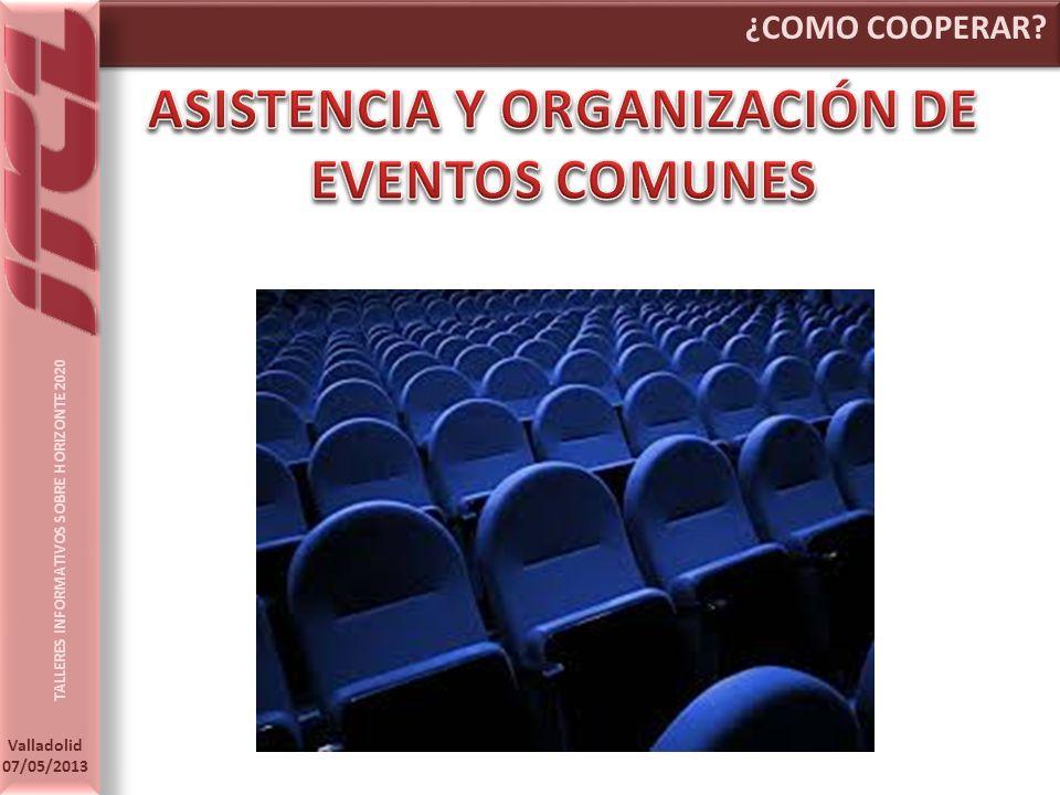 ASISTENCIA Y ORGANIZACIÓN DE EVENTOS COMUNES