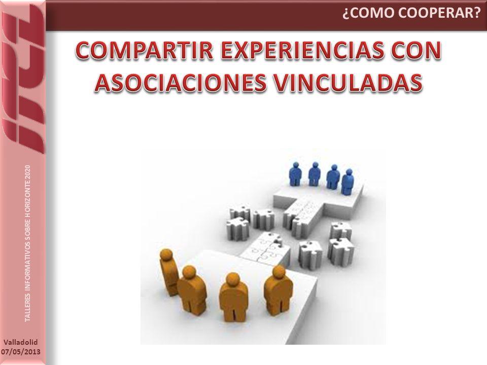 COMPARTIR EXPERIENCIAS CON ASOCIACIONES VINCULADAS