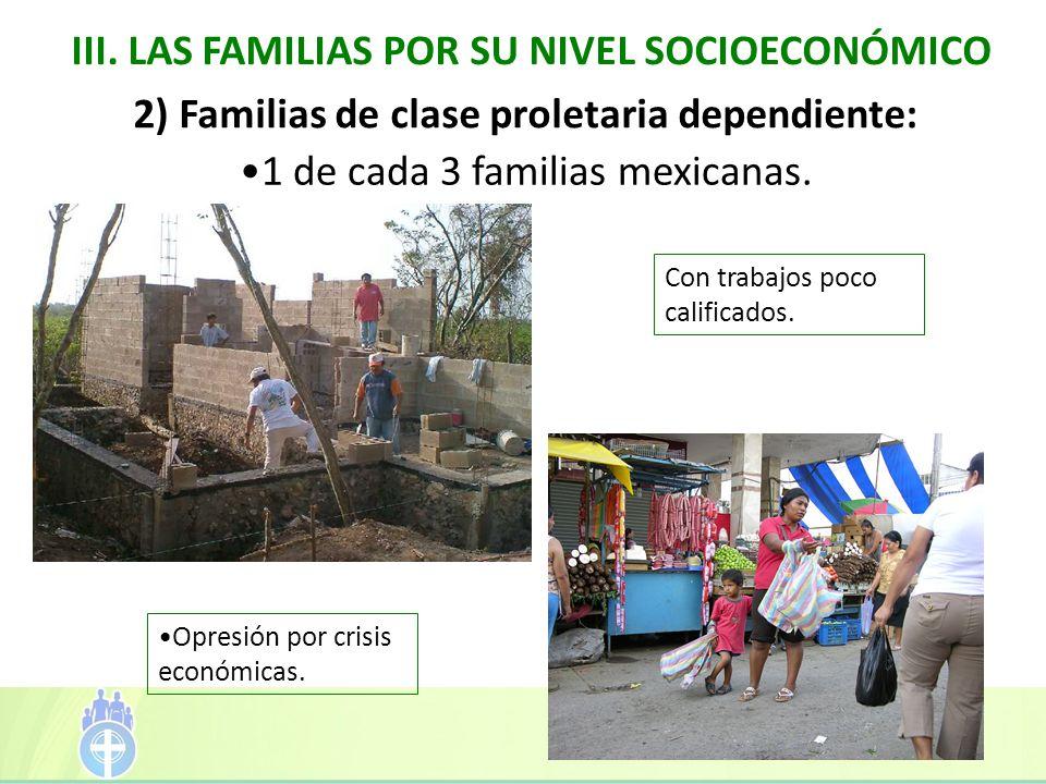 III. LAS FAMILIAS POR SU NIVEL SOCIOECONÓMICO